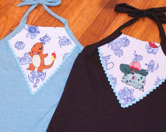 POKEMON cropped halter top (made to order)