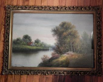 Chandler Original !!!  Pastel . Landscape . Artist signed