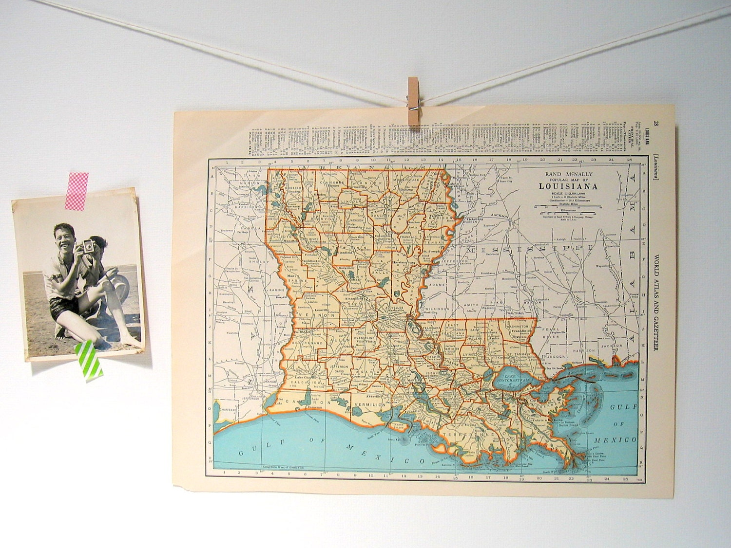 Kentucky and Tennessee Map Louisiana Map US by mysunshinevintage