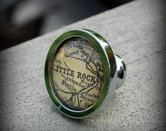 Little Rock Map Drawer Pull Cabinet Knob Handle