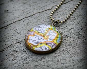 Zambia Map Necklace