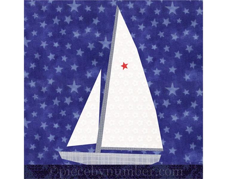 Sailboat Quilt Blocks Paper Pieced Quilt Pattern Instant