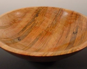 Spalted Ambrosia Maple Wood Bowl number 5346