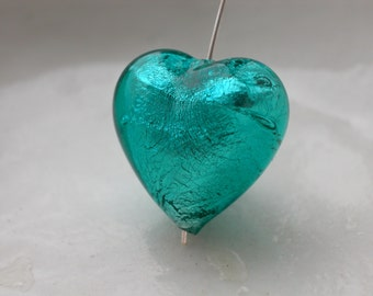 12mm Murano Glass Heart Bead