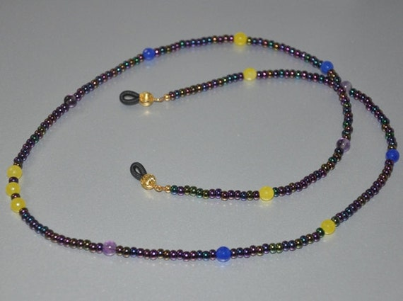 Eyeglass Frame Jewelry : Eyeglass holder Eyeglass Necklace Eyeglass Chain Beaded