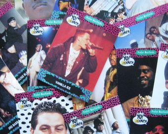 Vintage YO! MTV Raps Trading Cards - Set of 15