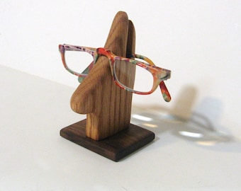 Eyeglass Holder Made Of Oak And Walnut Woods