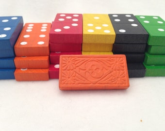 Colorful Wood Dominoes - Destash