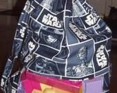 Blue star wars peek a boo toy sack