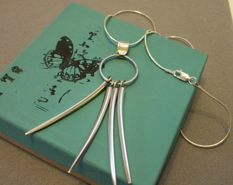 Recycled sterling silver necklace - sterling silver necklace - metalwork necklace - Tiffany flatware