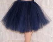 Dark Midnight Blue Romance Knee Length TuTu skirt adult All Sizes MTCoffinz