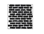 Mini Bricks 6x6 Crafters Workshop Stencil (191S) for cookies, cakes, cardmaking, mixed media, chalking, scrapbooks, face painting