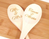 Personalized Wooden Spoon - Engraved Custom Wooden Spoon (1 spoon)