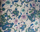 Gorgeous Vintage Printed Paisley Cotton - 4 Yards