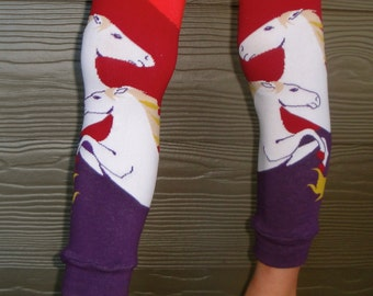 Horse Leg Warmers for Boys and Girls - Leggings for Baby, Toddler, Big Kid and Tween - Fun Birthday or Shower Gift