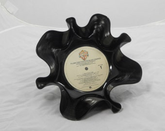 """Alice Cooper """"Flush the Fashion"""" Recycled Record Bowl"""