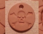 Custom Small Bisque Pottery Pendant or Necklace - Aromatherapy Essential Oil Diffuser - Choose Shape and Design - SKELETON Series