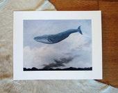 Blue Whale, Prairie Fire . 11x14 art print
