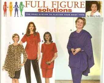 Simplicity 7343, Sewing Pattern, Womens Tunic, Skirt, Pants, Wrap, Full Figure Woman, Hoax, Mary Duffy, Size 26w 28w 30w 32w, Uncut Pattern,