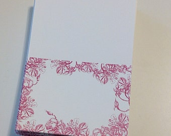 Pink Floral Folding Placecards set of 60