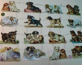 Dogs scrap, die cut paper 7327