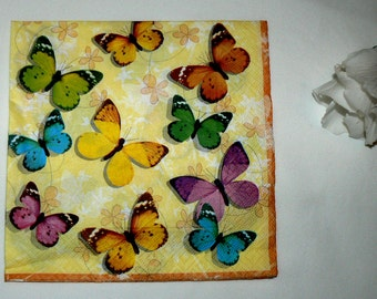 2  images Napkins from butterflies