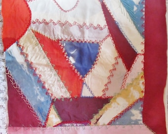 Antique Embroidered Crazy Quilt Block... Ready To Frame, Your Choice 1 of 2