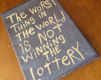 Lottery - Small Word Art Typography word painting - NayArts