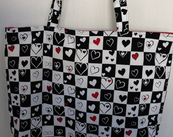 Large Tote-Queen of Hearts (Bag 488)