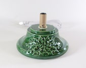 Replacement Ceramic Christmas Tree Base Medium Holly Green mader to order