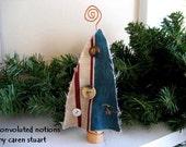 wine cork fabric christmas tree ornament christmas decoration handmade