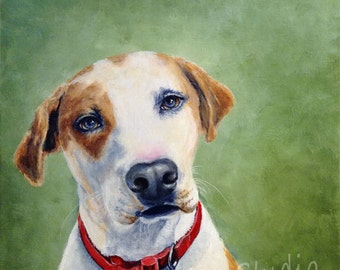 Giclee Print All American Dog Pet Portrait by RSalcedo A4C