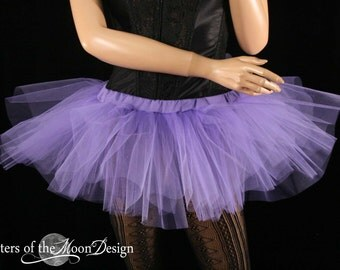 Mini micro tutu skirt light purple dance costume roller derby gogo dancer race run teen child girls -You Choose Size - Sisters Of the Moon