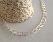 Ivory Bridal Button Looping Trim - Ready to use Wedding Button Holes