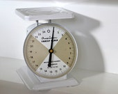 Vintage American Family kitchen and baby scale in white