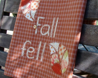 Applique Dish Towel |  Kitchen Towel | Modern Autumn Leaves | Dish Towel | Hand Towel | Falling Leaves | Country Kitchen | Autumn Fall Decor