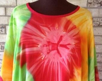 Plus Size Tie Dye Rayon Tunic