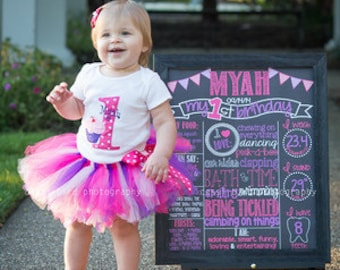 First Birthday Girl Outfit - Baby Girl 1st Birthday Tutu Outfit - Cupcake Birthday - Birthday Shirt - 2nd Birthday Outfit - Smash Cake