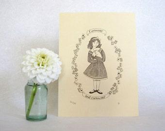 Alice in Wonderland Art Print - Lewis Carroll - nursery art