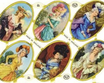 Vintage English Scrap - Victorian Ladies for Paper Arts