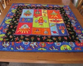 Space ships and Rockets quilt or wall hanging for a boy