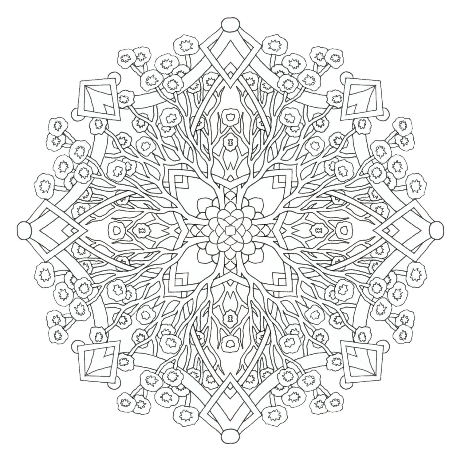 printable indian mandalas coloring pages - photo#41