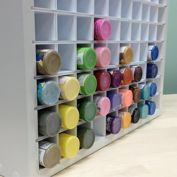 Craft Paint Storage Organizer For Acrylic Paint Bottles