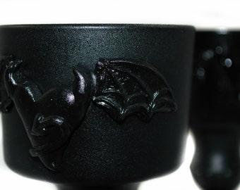 Candle Votive Set - Black Bat Winged Heart -  Dark Decors Original Design - My Wicked Heart - Gothic Gifts - Gifts under 25 - Gothic Decor