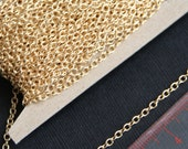 32 ft Gold plated chain,round cable chain 2X3mm, small cable chain, welded gold chain, iron chain