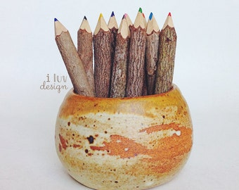 "Twig Color Pencils (4"" Color Pencil Bundle) 10 Twig Pencils • Rustic Twig Color Pencils"