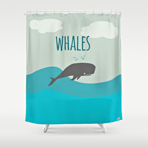 kids whale bathroom decor items similar to modern shower curtain modern shower 19000