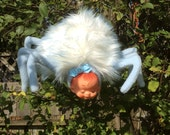 RESERVED for Mindy Spider Baby Plush Toy and large cotton candy