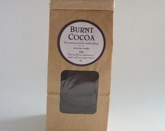 Deep brown merino roving, 25g (1oz) 'Burnt Cocoa', merino roving, UK needle felting, needle felting wool, felting wool, needle felt supplies