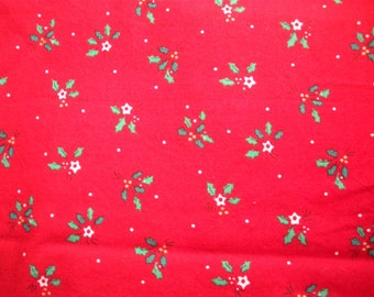 2 Yards of Christmas Fabric Yardage